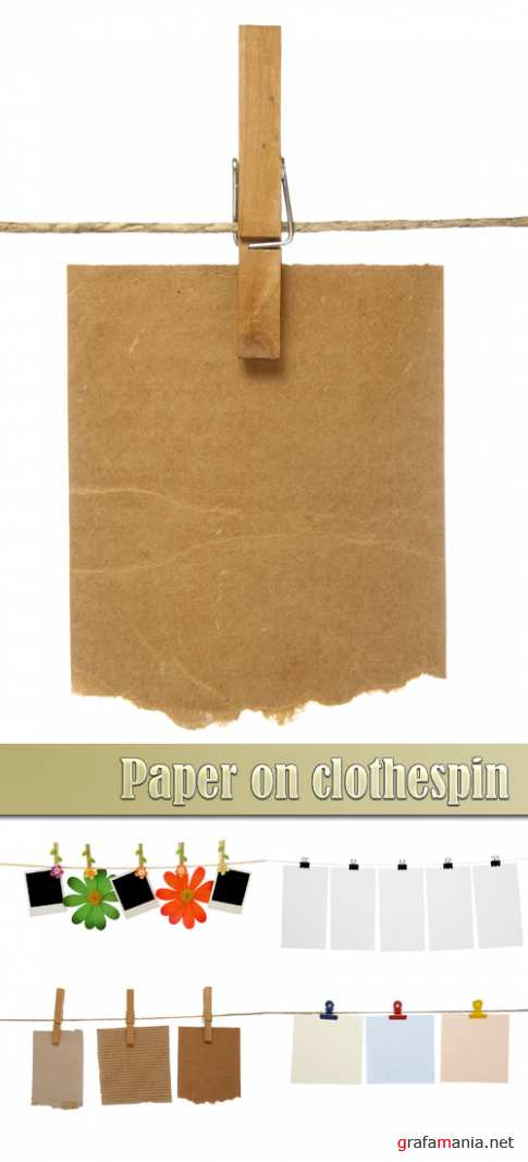 Paper on clothespin