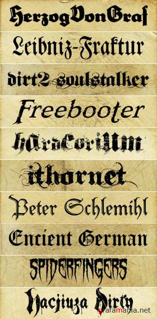 20 Fancy Fonts for Your Historical Designs