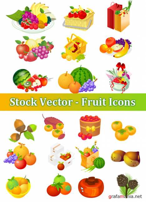 Stock Vector - Fruit Icons