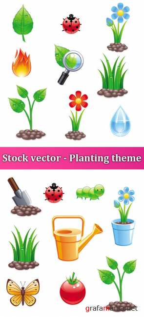 Stock vector - Planting theme