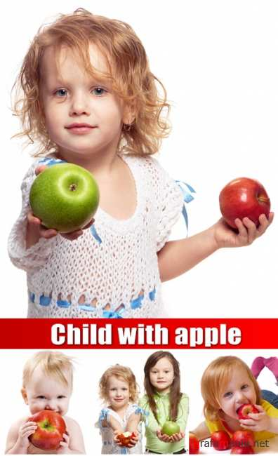 Child with apple