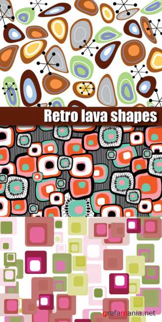 Retro lava shapes