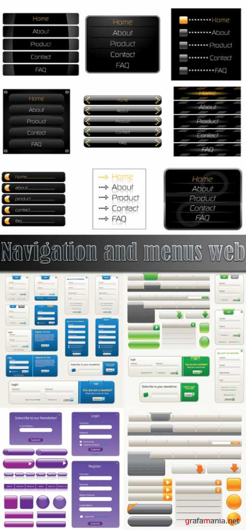 Navigation and menus web