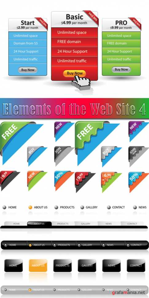Elements of the Web Site 4
