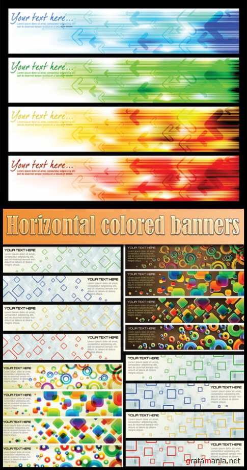 Horizontal colored banners