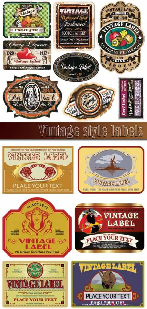 Vintage style labels 4
