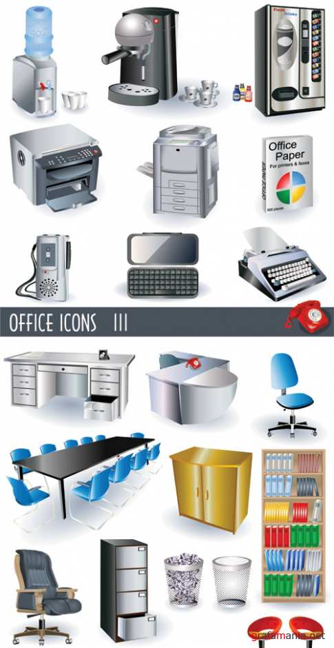 3D Icons Office
