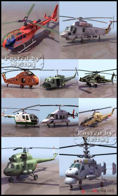 3D models of helicopters