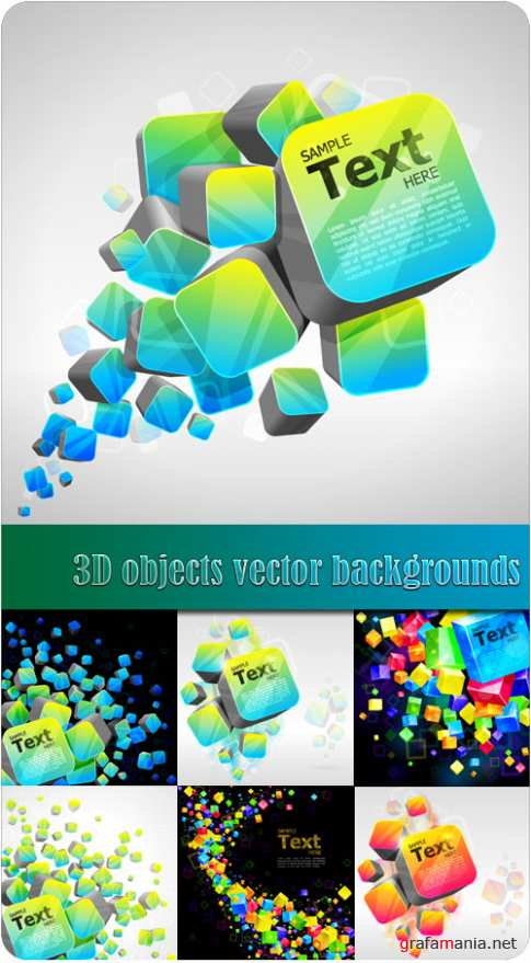 3D objects vector backgrounds