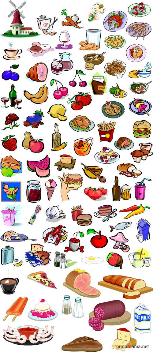 Food vector clipart