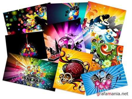 80 Colorful Vector Art Music Wallpapers