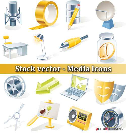 Stock vector - Media Icons