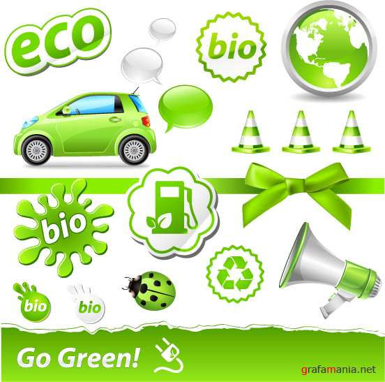 Eco green design elements