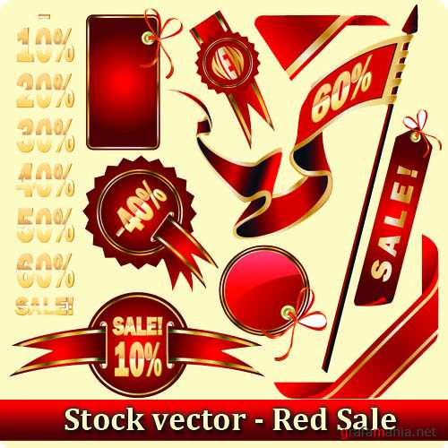 Stock vector - Red Sale
