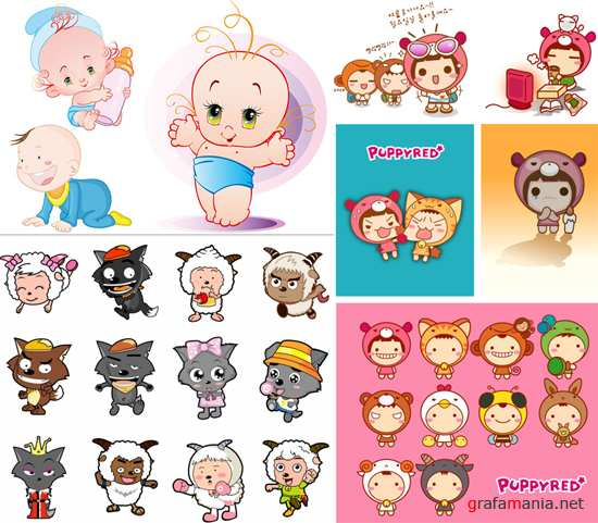 Children vector set