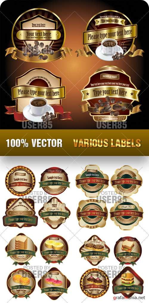 Stock Vector - Various Labels