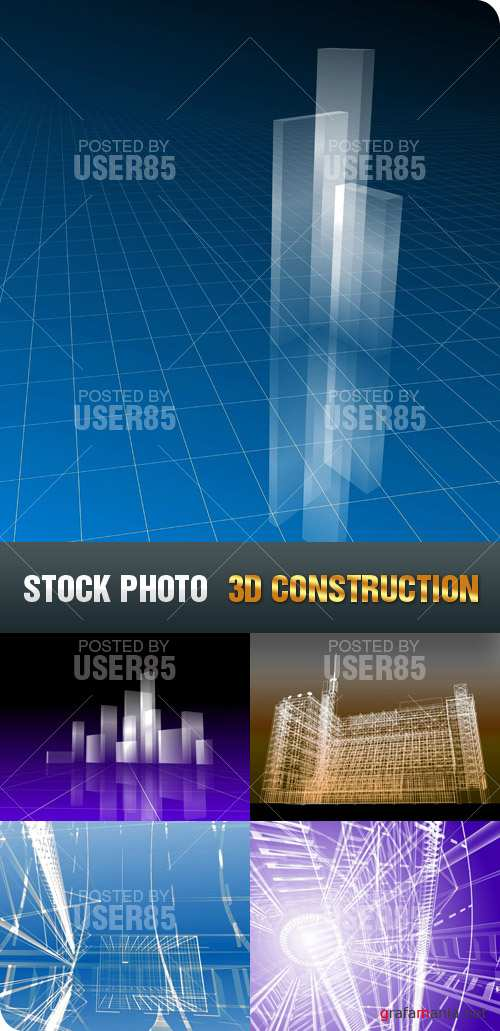 Stock Photo - 3D Construction