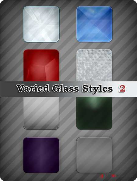 ����� ��� Photoshop - Varied Glass Styles 2