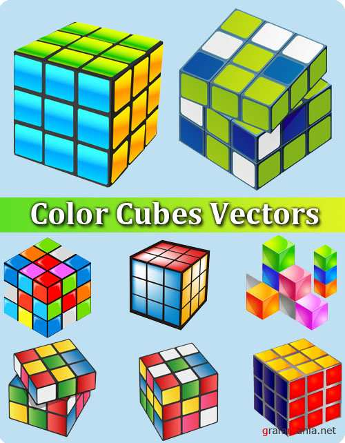 Color Cubes Vectors