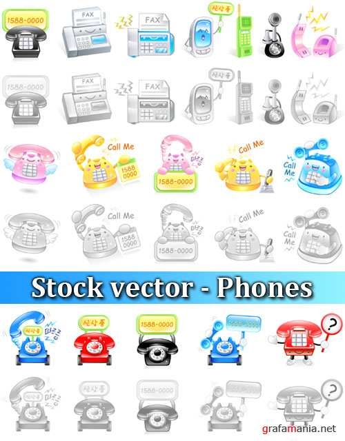 Stock vector - Phones