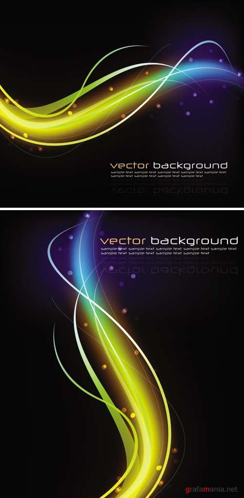 Glowing Backgrounds Vector