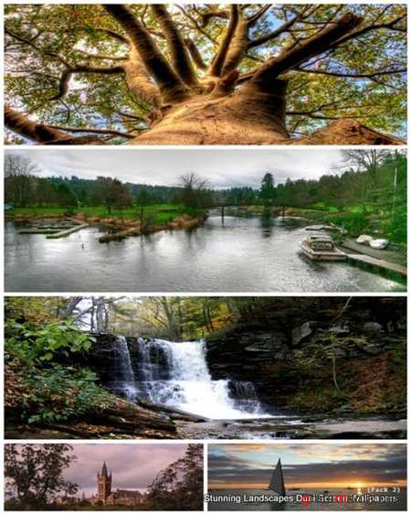 50 Stunning Landscapes Dual Screen Wallpapers (Pack 2)