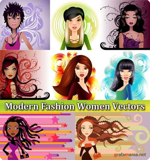 Modern Fashion Women Vectors