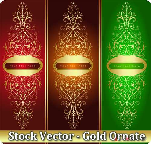 Stock Vector - Gold Ornate