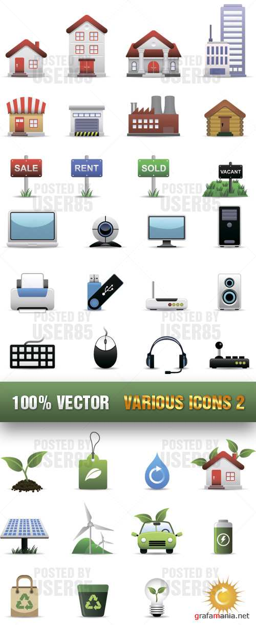 Stock Vector - Various Icons 2