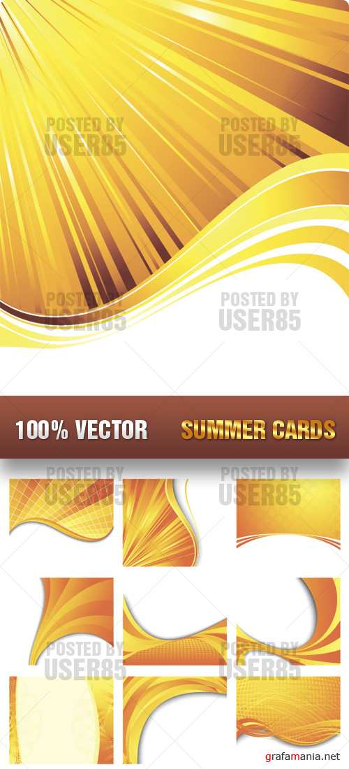 Stock Vector - Summer Cards