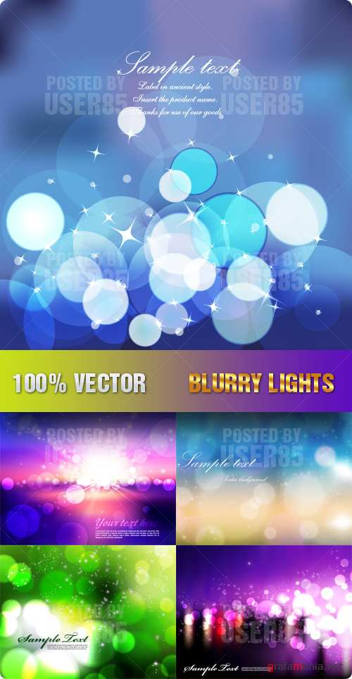 Stock Vector - Blurry Lights
