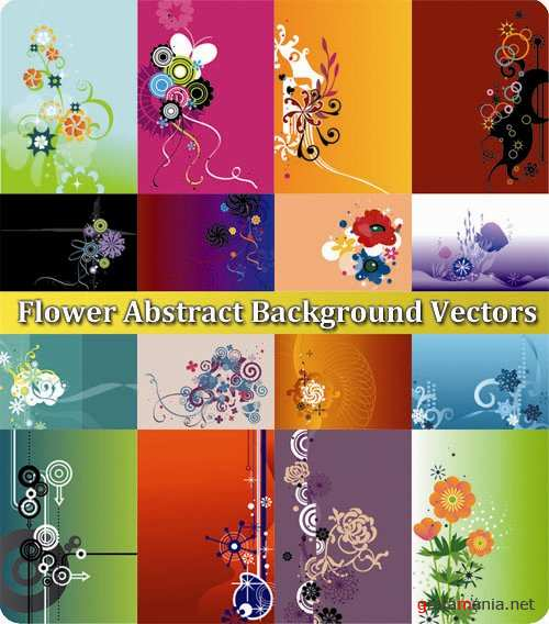 Flower Abstract Background Vectors