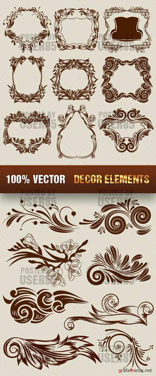 Stock Vector - Decor Elements