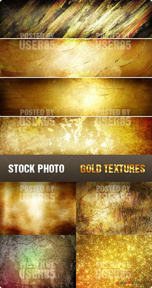Stock Photo - Gold Textures
