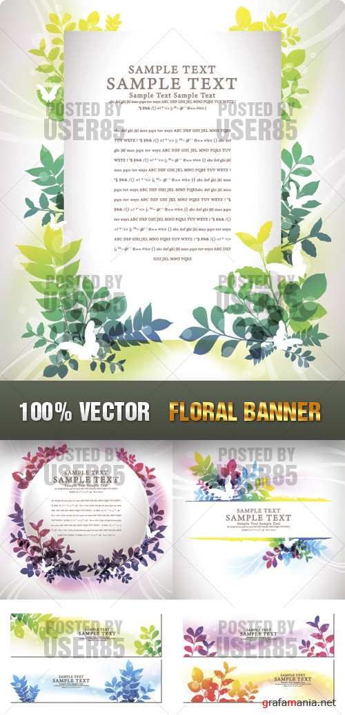 Stock Vector - Floral Banner