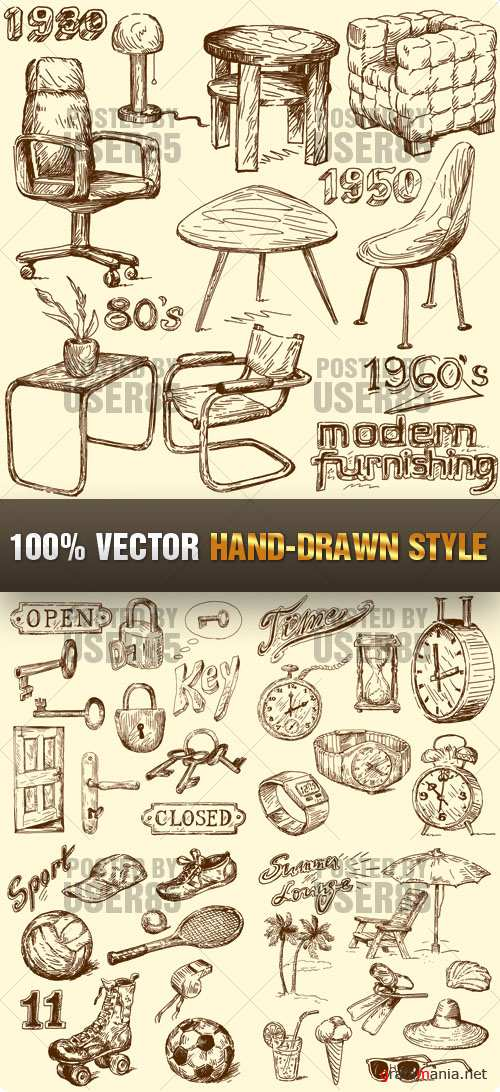 Stock Vector - Hand-Drawn Style