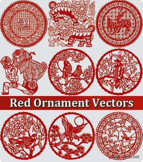 Red Ornament Vectors