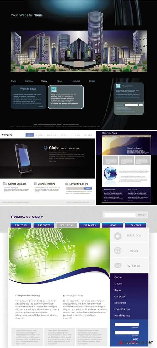 Website Templates Vector