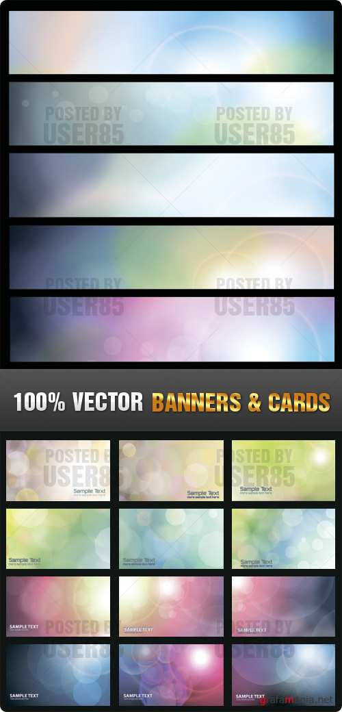 Stock Vector - Banners & Cards