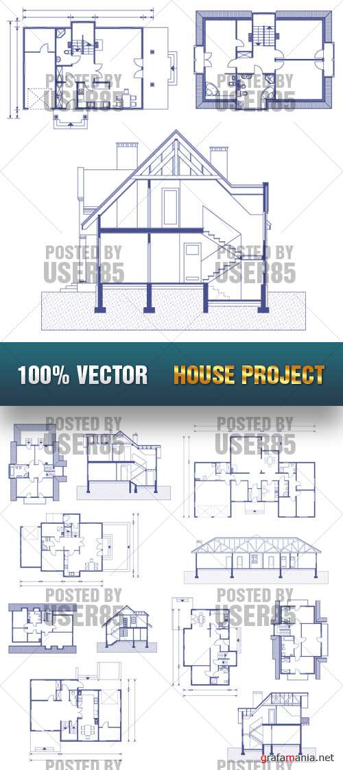 Stock Vector - House Project