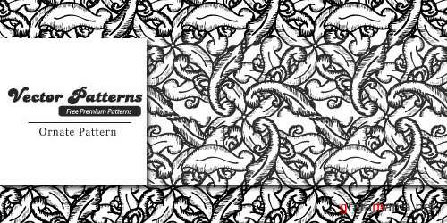 Hand Drawn Ornate Ornaments Vector Patterns