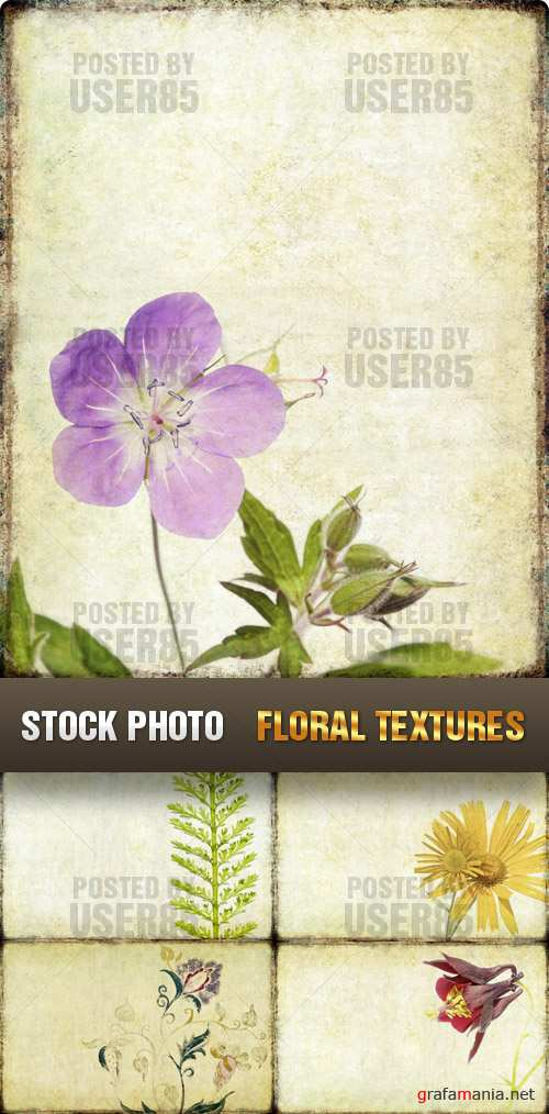 Stock Photo - Floral Textures