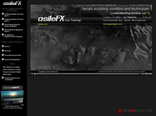 AsileFX Vue8 with Terrain Workshop Sculpting Workflow and Creation Techniques 2010