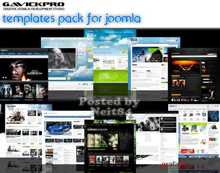 GavickPro Full Templates Pack for Joomla