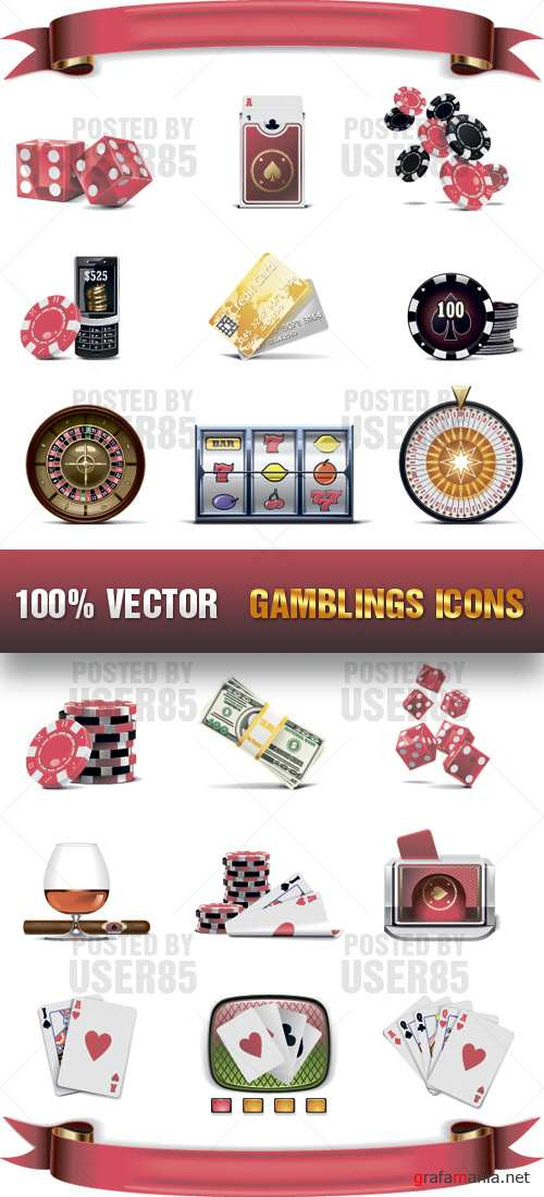 Stock Vector - Gamblings Icons