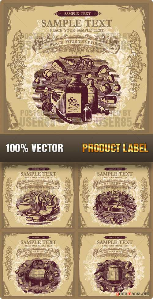 Stock Vector - Product Label