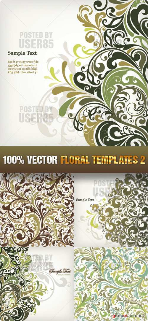 Stock Vector - Floral Templates 2