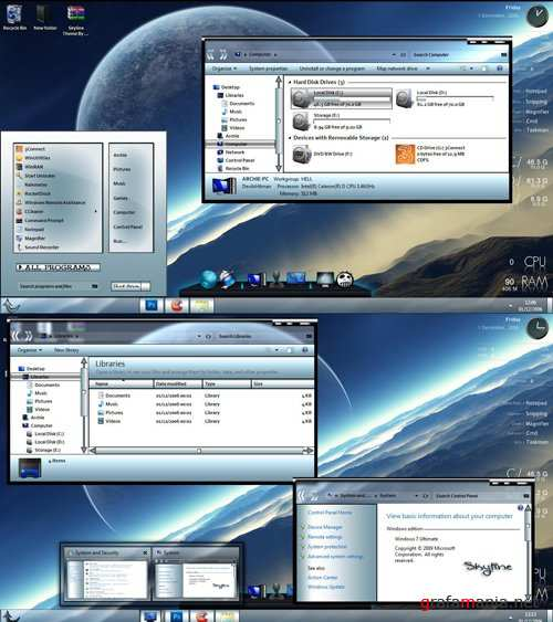 Skyline Theme for Windows 7