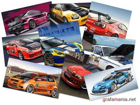 40 Sportcars Illustrated Wallpapers