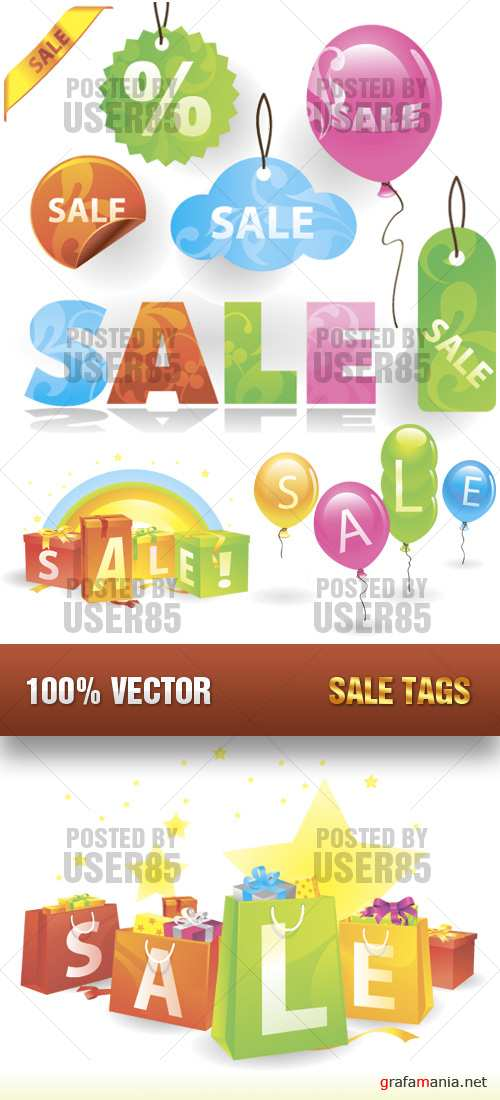 Stock Vector - Sale Tags